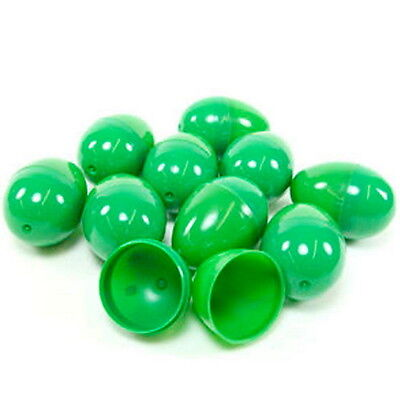24 Empty Green Plastic Easter Vending Eggs 2.25 Inch, Best Price Fastest Ship!!