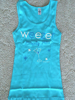WEEZER Beverly Hills Girls Tour Tank Top T-Shirt Jr Medium