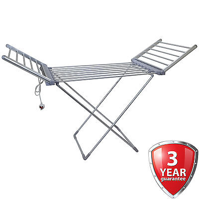 Winged Electric Clothes Airer Dryer Indoor Horse Rack Laundry Folding Washing