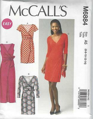 McCALL'S SEWING PATTERN MISSES' DRESSES SIZES 8 - 22 M6884