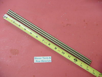 "3 Pieces of 1/4"" C360 BRASS SOLID ROUND ROD 14"" long .250"" Lathe Bar Stock"