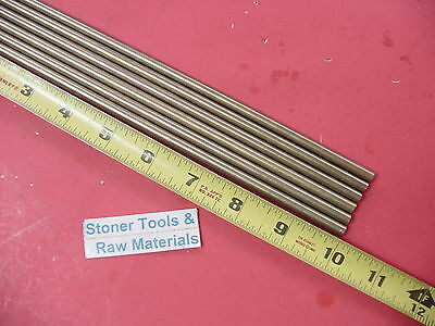"""6 Pieces of 1/4"""" C360 BRASS SOLID ROUND ROD 10"""" long .250"""" Lathe Bar Stock"""