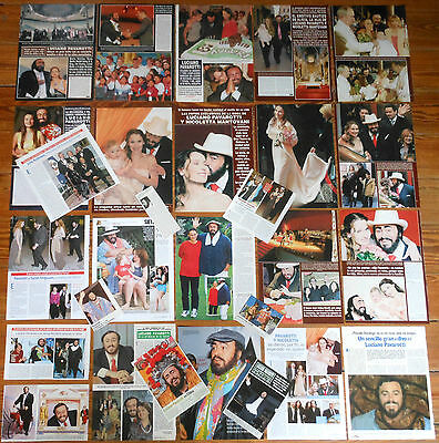 LUCIANO PAVAROTTI spanish clippings 1980s/00s photos opera magazine