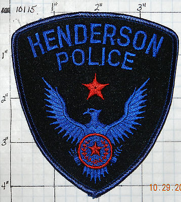 Texas, Henderson Police Dept Patch