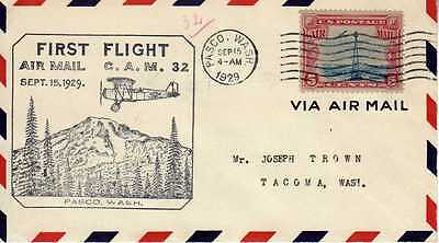 Etats Unis USA 1ers vols first flights airmail 212