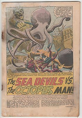Sea Devils #1,complete Coverless Copy,great Dc Silver Age!