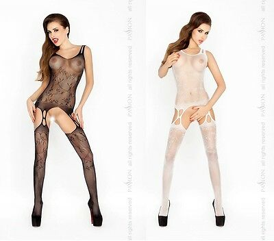 Sexy Netz Bodystocking Ouvert Catsuit Netzbody Body Stocking Overall Reizwäsche