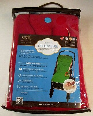 Tivoli Couture Red Memory Foam Stroller Liner (NEW)