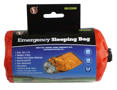 Heavy Duty Emergency Solar Thermal Sleeping Bag Survival Disaster Camping