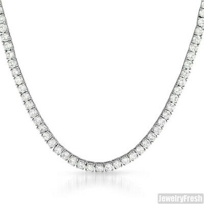 Steel Never Tarnish 51 Carat VVS Cubic Zirconia Iced Out Chain Necklace