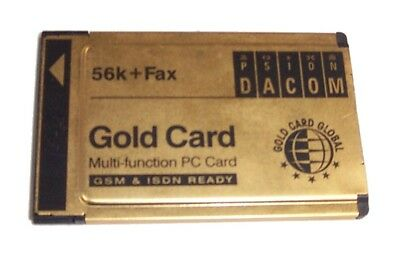 PSION S99-2318-2 Gold Card 56K + Fax PCMCIA Modem Card- No Dongle