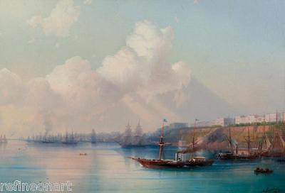Ivan Aivazovsky View of the Odessa Harbour with Ships  Oil Painting repro