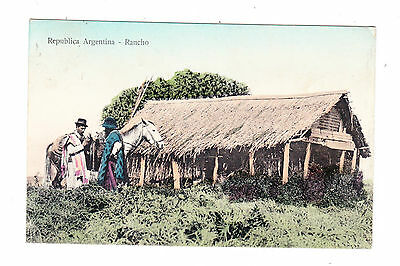 Argentina. 1911.  Ranch. Old Printed Postcard