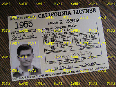 Back to the Future - Custom Made [ George McFly 1955 Driver's License ] B3G1F