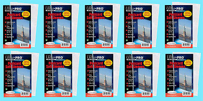 1000 ULTRA PRO POSTCARD SOFT SLEEVE 10 Packs Archival Safe Protective Coin Stamp
