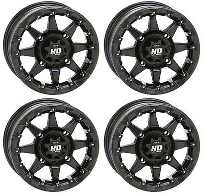 4 ATV/UTV Wheels Set 14in STI HD5 Beadlock Matte Black 4/156 5+2 1KXP