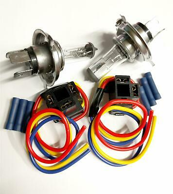 Replace Corroded Car Van H4 Hb472 472 Bulbs & Repair 3 Pin Plugs With Connectors
