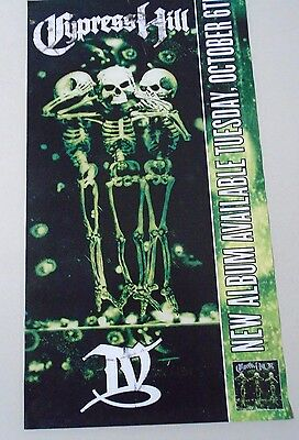"Cypress Hill - Orig. 2 sided Promo Poster - ""1998"" / Exc.+ New cond. / 13 x 24"""