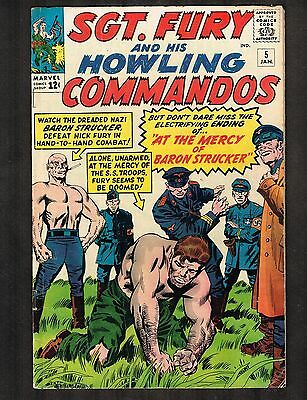 Sgt. Fury and his Howling Commandos #5 ~ Baron Strucker Cvr / 1st Baron (5.0) WH