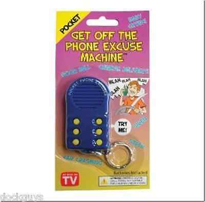 Big Mouth Toys Pocket Get Off The Phone Excuse Machine Keychain  FREE SHIPPING