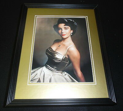 Elizabeth Liz Taylor 1948 Framed 11x14 Photo Display