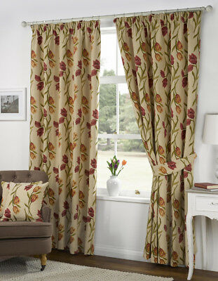 Kliving Amsterdam Tulip Fully Lined Tape Top Tapestry Curtains and Door Curtain