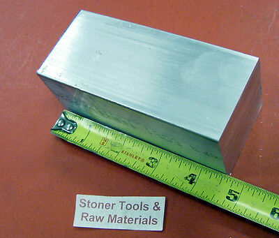 "2"" X 2"" ALUMINUM SQUARE 6061 FLAT BAR 4.56"" long T6511 SOLID New Mill Stock"