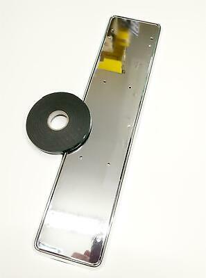 Quality Chrome Shiny Finish Car Van Licence Plate Frame & 12mm Mounting Tape