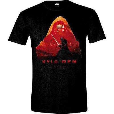 STAR WARS VII Men's The Force Awakens Kylo Ren - First Order T-Shirt, M, Black