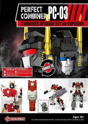 Transformers 3D Party Perfect Effect PC-03 Combiner Wars Upgrade for Superion