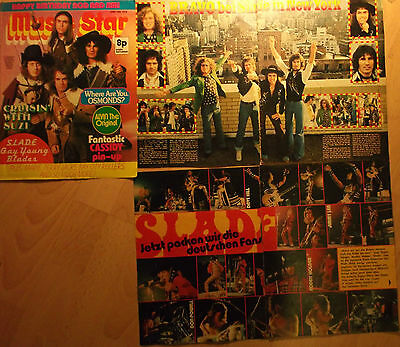 5 german clipping SLADE NOT SHIRTLESS ROCK BOY GLAM ROCK BAND BOYS 70s TEEN HUNK