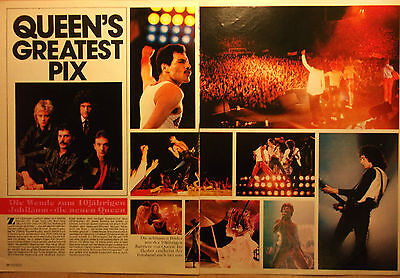 2 german clipping QUEEN FREDDIE MERCURY NOT SHIRTLESS GAY INT LIVE BOY BAND BOYS