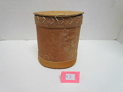 Native American Handmade Birch Bark Baskets 4-6 Inches Tall Comes With Lid
