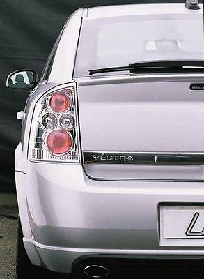 Vauxhall Vectra C 2002-2008 Clear Chrome Rear Back Tail Lexus Lamp Lights - Pair