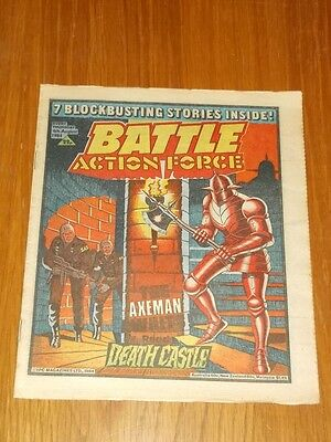 Battle Action Force 4Th August 1984 British Weekly Ipc Magazine