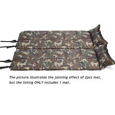 Air inflatable Self-Inflating Camping Mat Pillow Sleeping Pad Mattress Bed E1R4