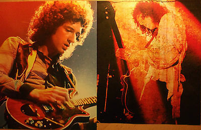 2 english clipping QUEEN BRIAN MAY NOT SHIRTLESS ROCK BOY BAND BOYS MERCURY 70`s