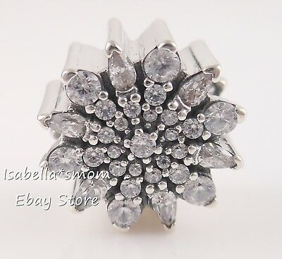 e0ea759d4 ICE CRYSTAL Authentic PANDORA Silver SNOWFLAKE Winter Charm 791764CZ NEW w  POUCH
