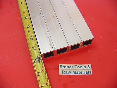 "4 Pieces 1""x 1""x 1/8"" Wall x 12"" Long ALUMINUM SQUARE TUBE 6063 T52 1""SQ x .125"""