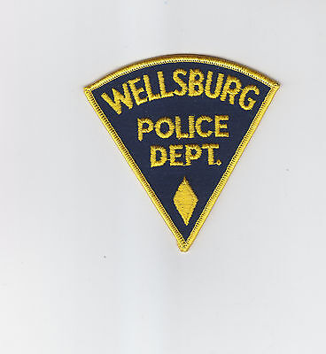 Wellsburg WV West Virginia Police patch CHEESECLOTH BACK/VINTAGE/OLD