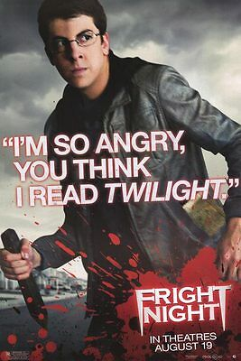 "Fright Night Version C Single  Sided 27""x40' inches Original Movie Poster"