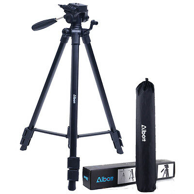 "63"" Universal Professional DSLR Camera Travel Tripod Pan Head For Canon Nikon"