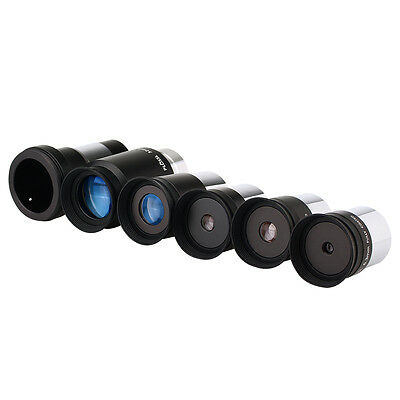 "New 5x 1.25"" Fully HD Coated metal Plossl 5 Eyepiece+1pc 2X Barlow for Telescope"
