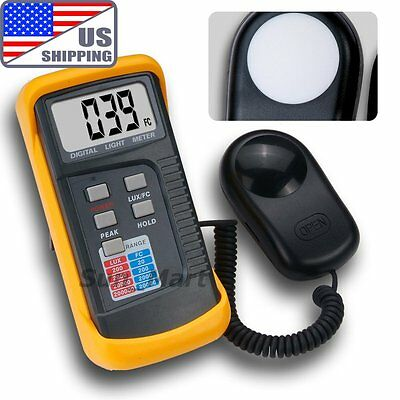 US Ship 1330B Light Meter 200k 20000 Lux Foot Candle FC Camera Photo Shop