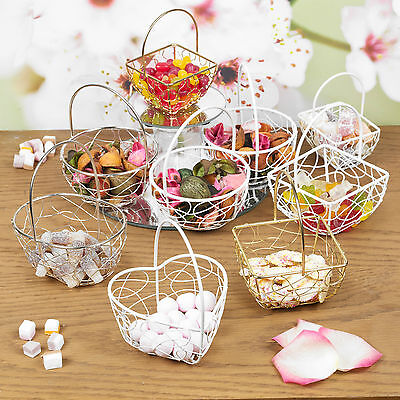 Assorted Wire Metal Mesh Wedding Table Fancy Decor Bridesmaid Small Baskets