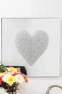Large Silver Heart Cluster Mirror