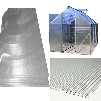 4mm Polycarbonate Greenhouse Glass Replacement Sheet Glazing 2ft 4ft Gardman