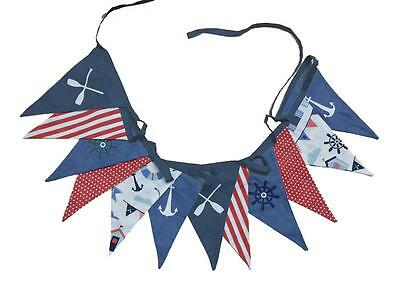e2e Seaside Design Double Sided Textile Bunting Party Decoration