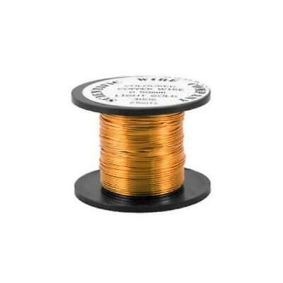 1 x Orange/Golden Plated Copper 0.5mm x 15m Round Craft Wire Coil W5006