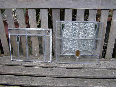 Antique Lead Stained Glass Door Panel Window